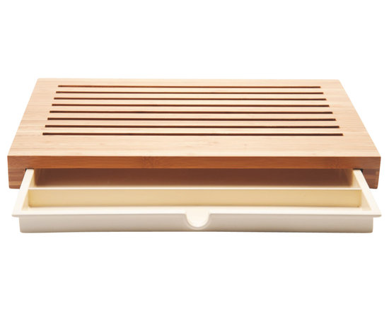 """Alessi - Alessi """"Sbriciola"""" Bread Board - Give your bread the royal treatment (and save yourself some trouble) with this ingenious bread board. Made of resilient bamboo, it provides a space for cutting, stores your knife and even catches the crumbs!"""