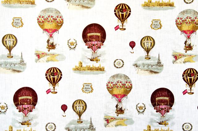 Hot air balloon fabric Paris France toile farmhouse-fabric