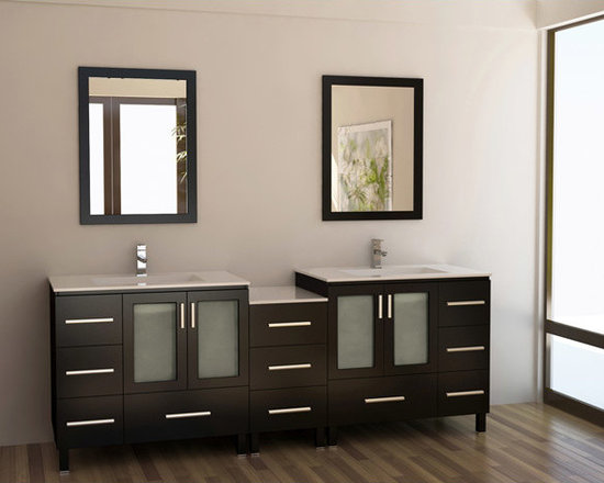 Double Sink Vanity Set -