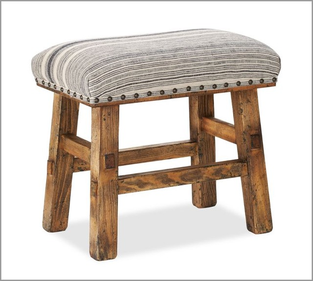 Caden Nailhead Stool eclectic-ottomans-and-cubes