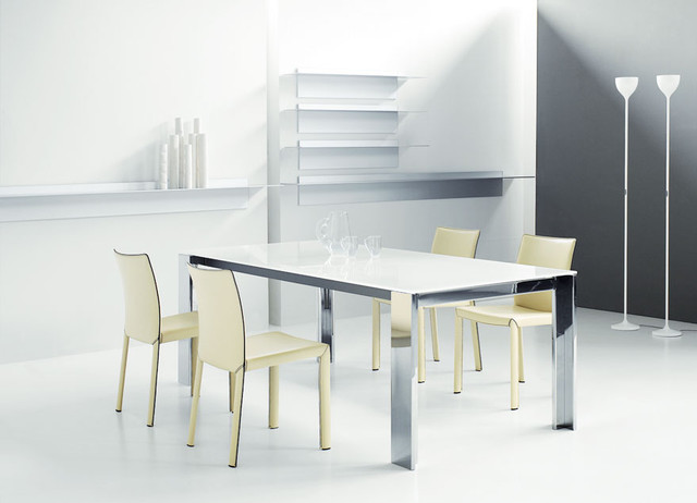 Kudo extensible dining table by bonaldo modern dining for Table extensible 270