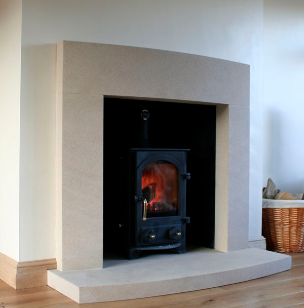 Modern Cast Stone Fireplace Surround 600 x 608