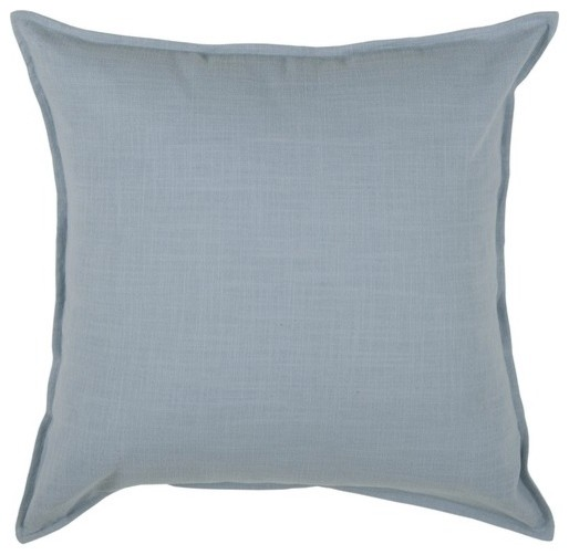 "T-3427A 20"" Decorative Pillow in Aqua Blue (Set of 2) modern-decorative-pillows"