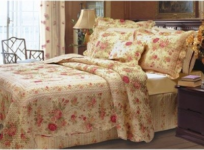 Greenland Home Fashions Antique Rose - Quilt Set Includes Bonus 18 in. Pillow modern-bed-pillows