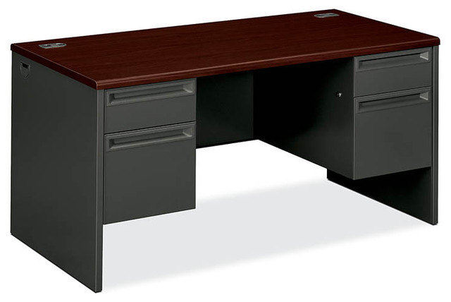 HON 38000 Series 3/4 Double Pedestal Desk contemporary-desks