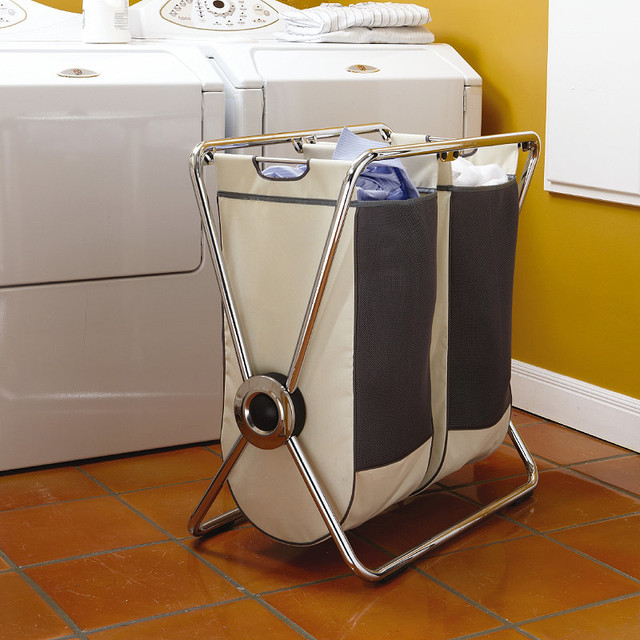 Simplehuman X Frame Double Laundry Hamper Traditional