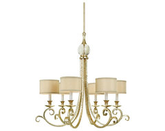 Traditional Candice Olson Lucy Gold 6-Light Chandelier traditional-chandeliers