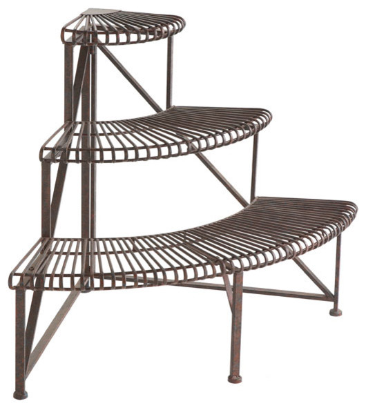 Corner Iron Plant Rack - Traditional - Outdoor Pots And ...