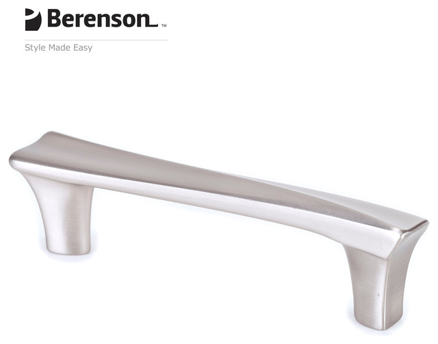 9476-1BPN-P Brushed Nickel Cabinet Pull by Berenson - Modern - Cabinet And Drawer Handle Pulls ...