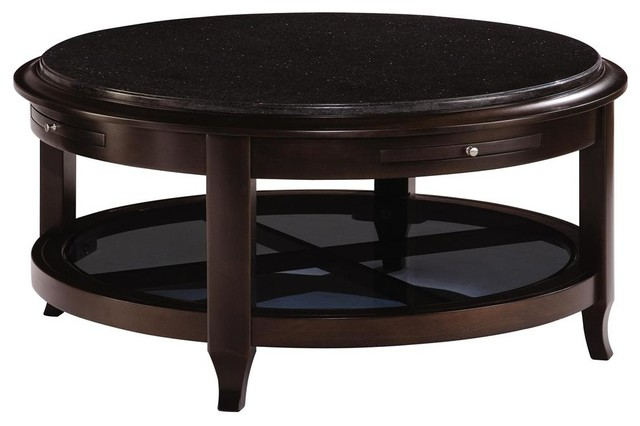 Kincaid Alston Solid Wood Round Cocktail Table Transitional Coffee Tables By Bedroom