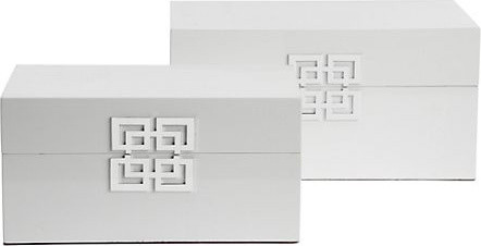Ming Boxes, White asian-storage-bins-and-boxes