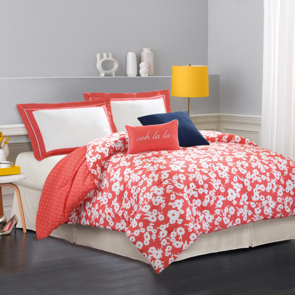 Kate spade new york mixed petal king comforter set for Bed bath and beyond kate spade