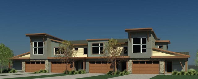 Spring Creek Townhomes traditional-exterior