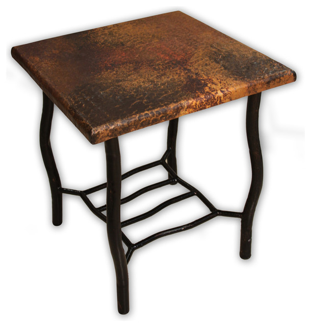 Artisan Home Copper Ridge End Table With Copper Top And