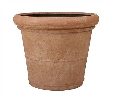 Umbria Etched Concrete Planter, Large - Traditional ...