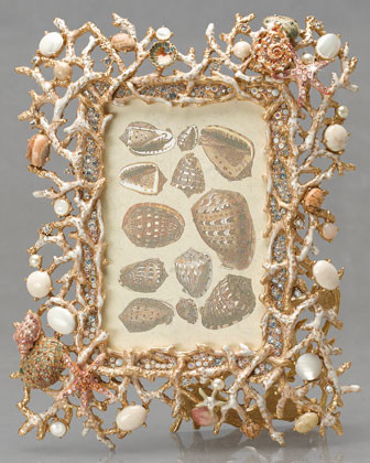 Jay Strongwater Talassa Coral Frame, 4 x 6 traditional-picture-frames