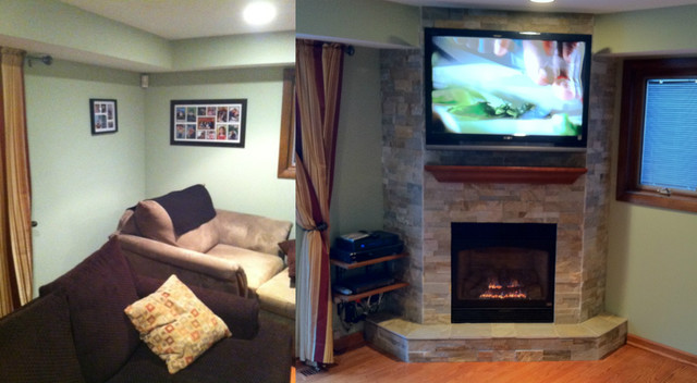 Before/After Fireplace Projects modern-indoor-fireplaces