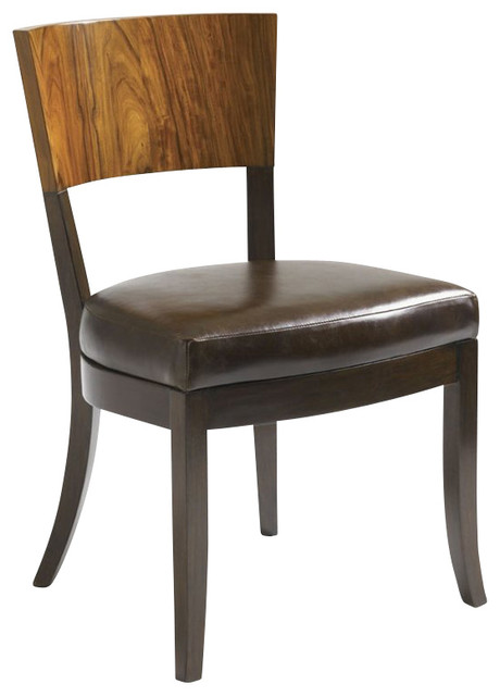 side chair in walnut finish transitional dining chairs by cymax