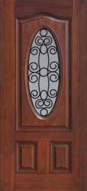 Entry Single Door 80 Fiberglass Genoa Eyebrow Oval Lite traditional-front-doors