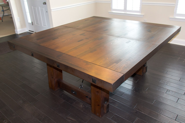 Antique Heart Pine Dining Table