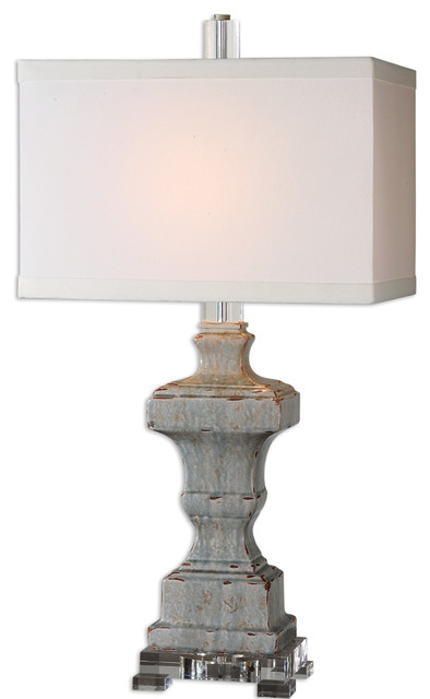 San Marcello Blue Glaze Lamp traditional-table-lamps