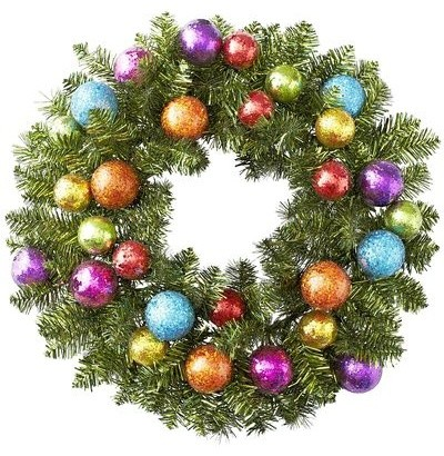 Glitter Ball Wreath contemporary holiday outdoor decorations