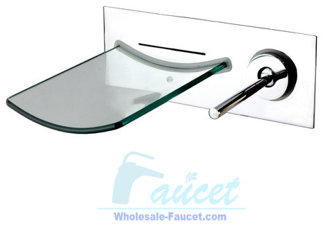 Waterfall Bathroom Faucet on Mount Chrome Glass Waterfall Bathroom Faucet Modern Bathroom Faucets