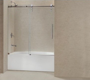 "DreamLine Enigma-Z Sliding Tub Door 56"" - 60"" SHDR-6260620 modern-bath-products"