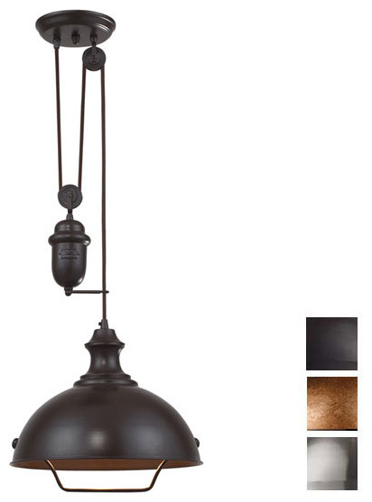 Farmhouse Adjustable Pendant Pendant Lighting houston by Whispar Design