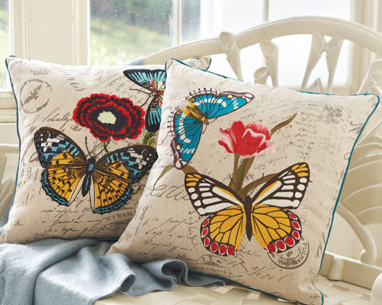 Spring Butterfly Pillows -