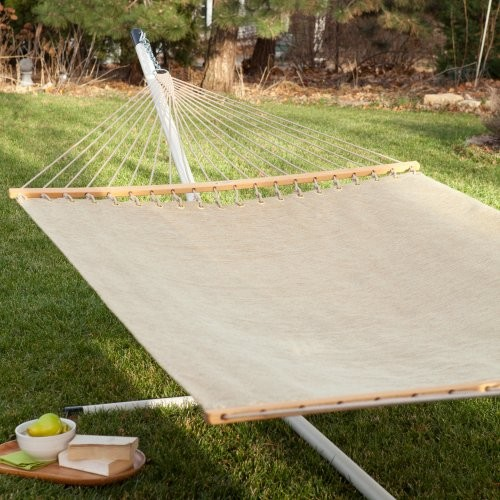Twin Oaks Moss Quick Dry Poolside Sunbrella Hammock modern-hammocks-and-swing-chairs