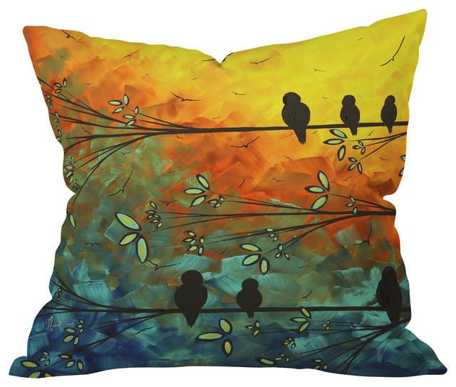 Outdoor Throw Pillows Birds : Madart Inc Birds Of A Feather Outdoor Throw Pillow, 26x26x7 - Contemporary - Outdoor Cushions ...