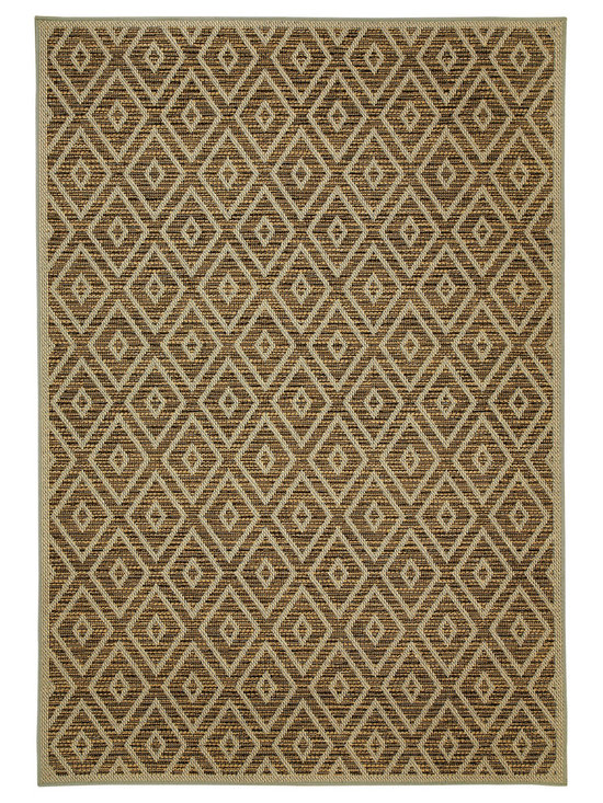 Terrace Gem rug in Cocoa - Wilton-woven for Indoor or Outdoor use, the Terrace Collection sets the standard for this category using seven colors - most indoor/outdoor rugs use two to three at most.