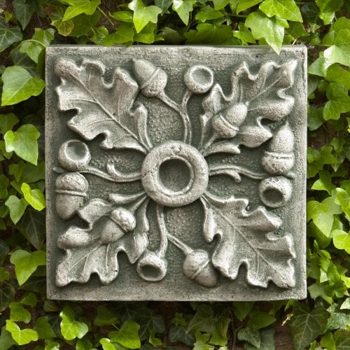 Campania international acorn outdoor wall art plaque aged for Outdoor garden wall decor