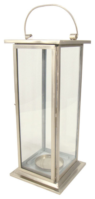 satin nickel rectangular lantern modern candleholders With kitchen cabinets lowes with rectangular candle holder