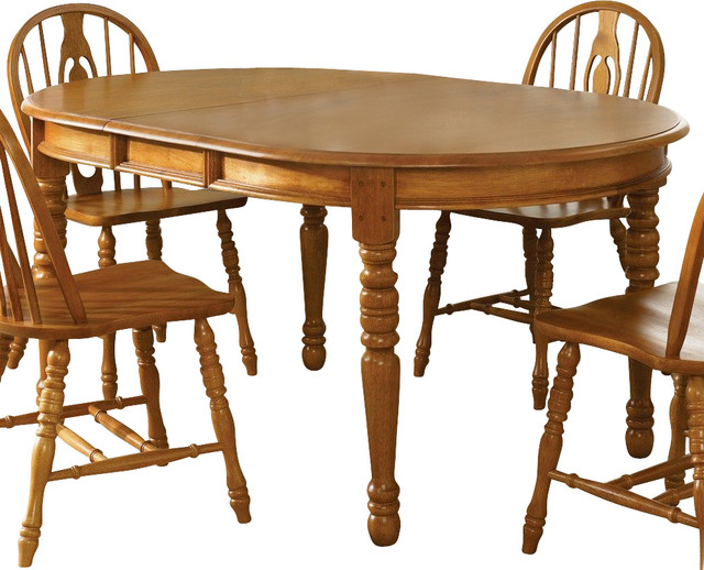 Liberty furniture country haven 76x42 oval dining table in for Light wood kitchen table