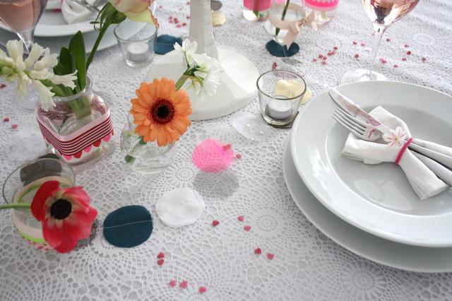 Neon Bright Valentines Tablescape eclectic