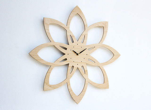 contemporary clocks by Etsy