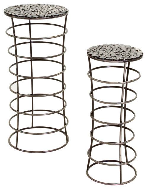 Roosevelt Iron Plant Stands Set Of 2 Contemporary