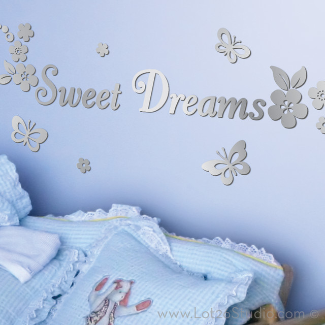 mirrored sweet dreams wall decals wall decals san sweet dreams wall art sticker wa012x