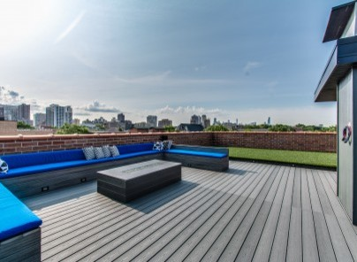 Lakeview Rooftop modern-deck