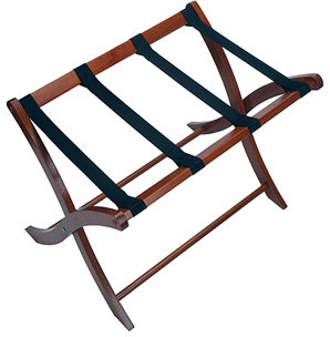 Curved Leg Portable Luggage Rack traditional storage and organization