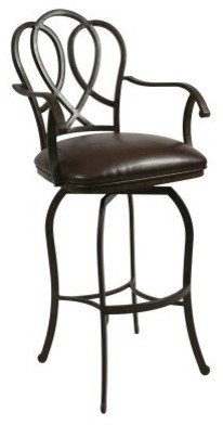 Pastel 30-in. Oxford Swivel Bar Stool with Arms - Autumn Rust contemporary-bar-stools-and-counter-stools