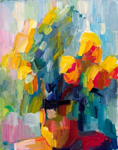 Yellow Roses By Lena Levin eclectic artwork