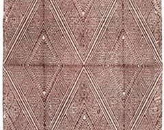Russet Printed Dhurrie by John Robshaw eclectic-rugs