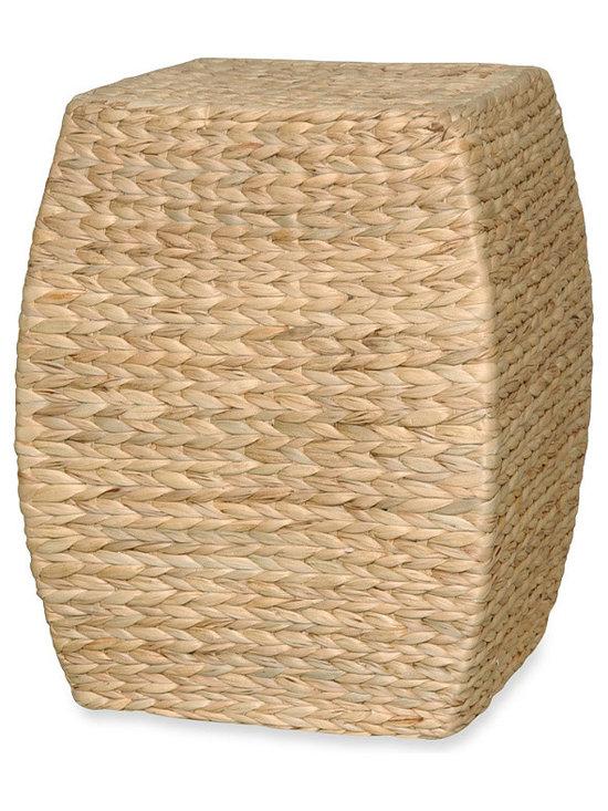Emissary Arc Stool/Table with Hyacinth Wrap -