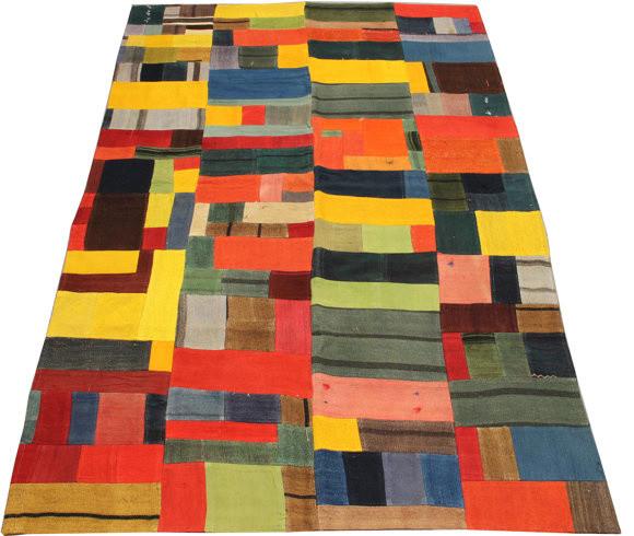 Hand Woven Turkish Patchwork Kilim Rug by Kilim Warehouse modern-rugs