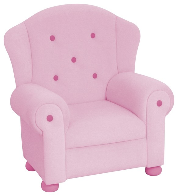 Kids Pink Plush Arm Chair Eclectic Chairs