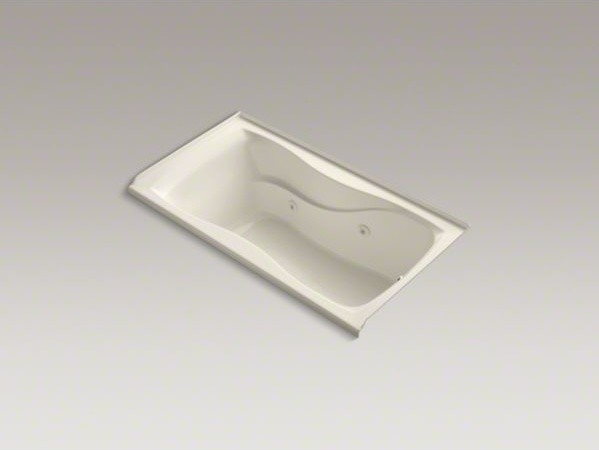 "KOHLER Hourglass(R) 60"" x 32"" alcove whirlpool with integral tile flange, right- contemporary-bathtubs"
