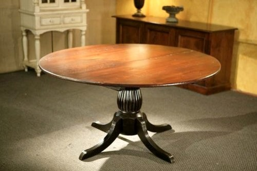 Round Kitchen Tables With Black Fluted Pedestal farmhouse-dining-tables